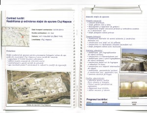 Project report leaflet The Sewage Treatment Plant in Cluj-Napoca